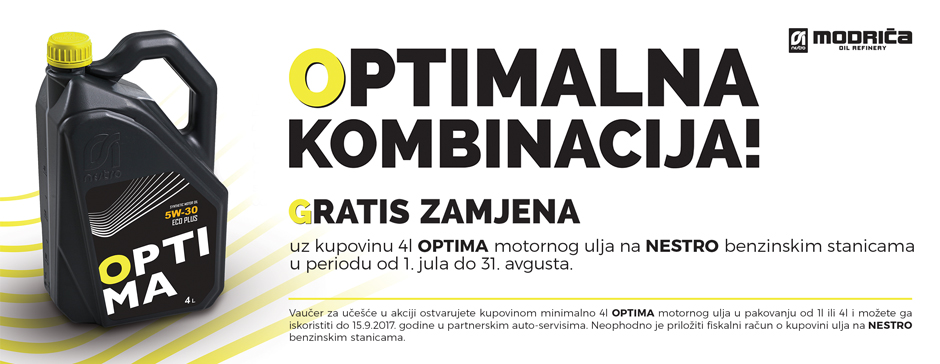 OPTIMALNA KOMBINACIJA!